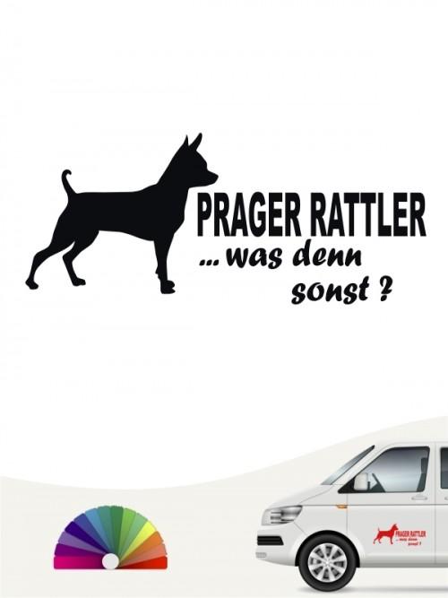 Prager Rattler was denn sonst Heckscheibensticker von anfalas.de