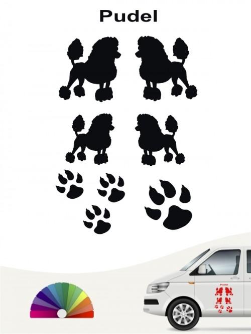 Pudel Hundeaufkleber Set von anfalas.de