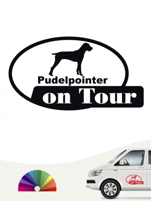 Pudelpointer on Tour Autosticker von anfalas.de