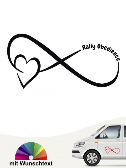 Rally Obedience Team Heckscheibenaufkleber mit Wunschtext von anfalas.de