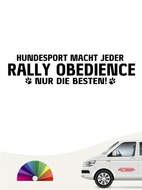 Hunde-Autoaufkleber Rally Obedience nur die Besten von Anfalas.de