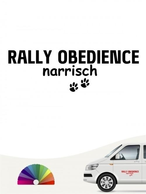Hunde-Autoaufkleber Rally Obedience narrisch von Anfalas.de