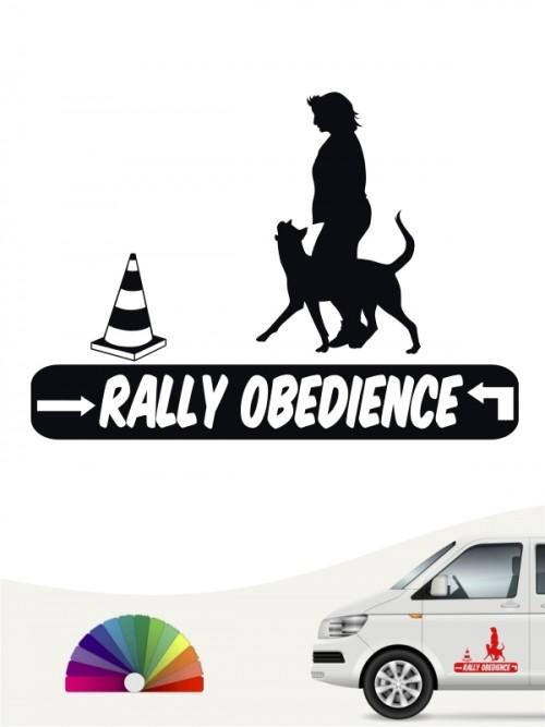 Rally Obedience Aufkleber von Anfalas.de