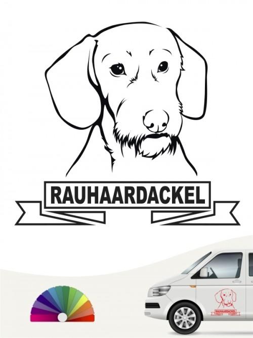 Hunde-Autoaufkleber Rauhaardackel 15 von Anfalas.de