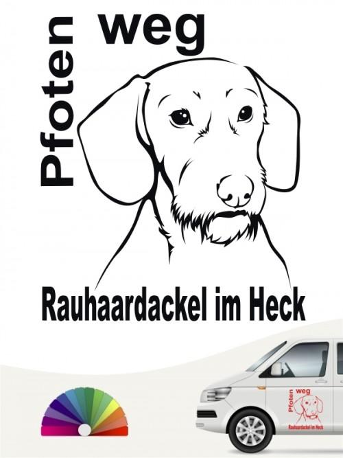Rauhaar Dackel Pfoten weg Aufkleber von anfalas.de