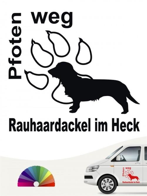Rauhaar Dackel Pfoten weg Sticker von anfalas.de