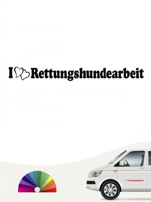 I love Rettungshundearbeit Aufkleber anfalas.de