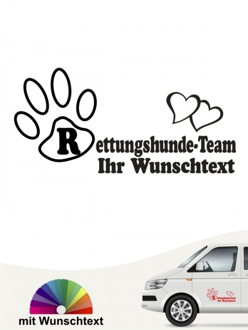Rettungshunde Team Aufkleber anfalas.de