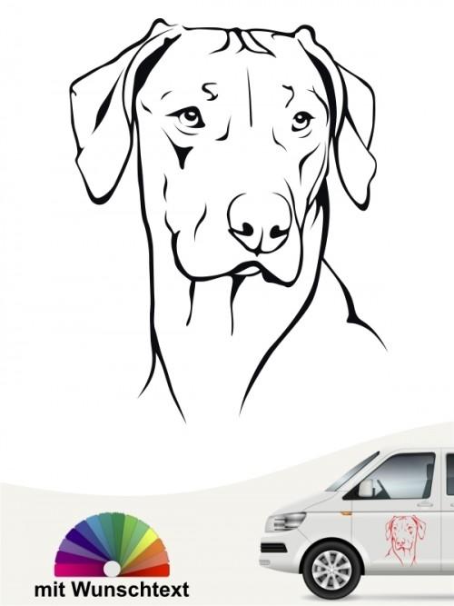 Hunde-Autoaufkleber Rhodesian Ridgeback von Anfalas.de