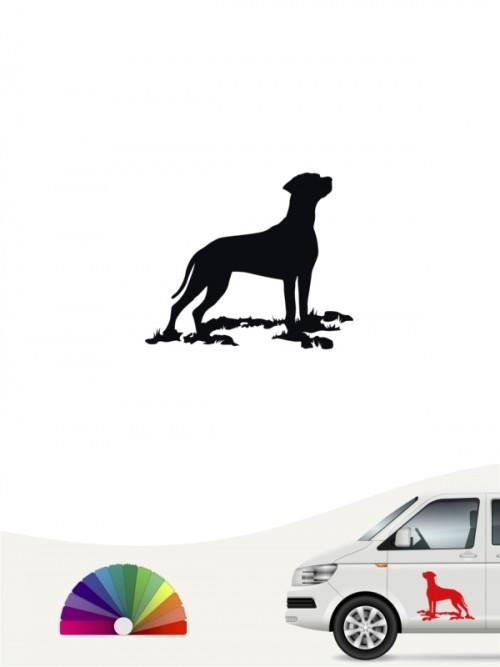 Rhodesian Ridgeback Heckscheibenaufkleber von anfalas.de