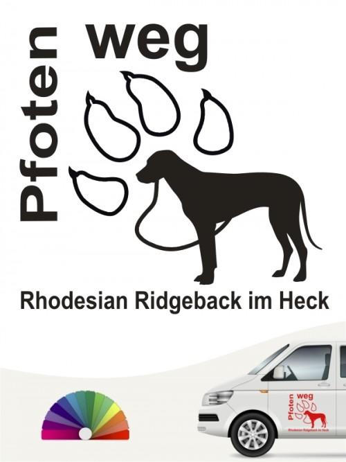 Rhodesian Ridgeback Pfoten weg Autosticker von anfalas.de