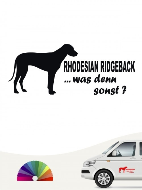 Rhodesian Ridgeback was denn sonst Heckscheibenaufkleber von anfalas.de