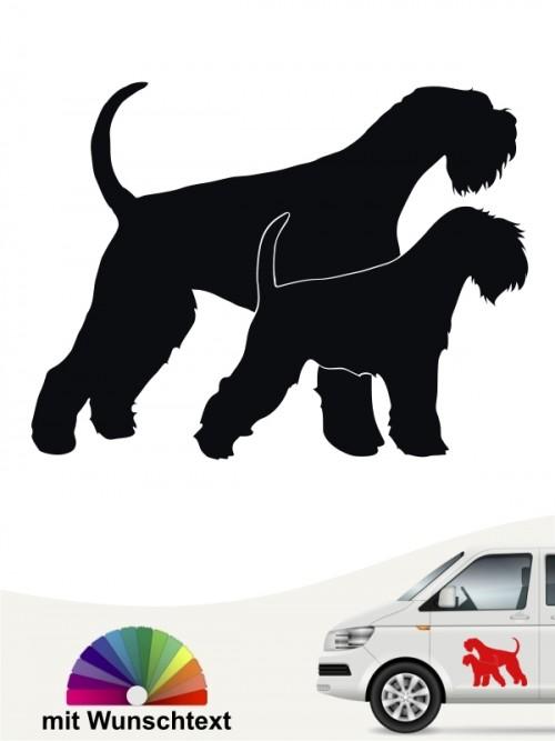 Hunde-Autoaufkleber Riesen- & Zwergschnauzer 1 von Anfalas.de