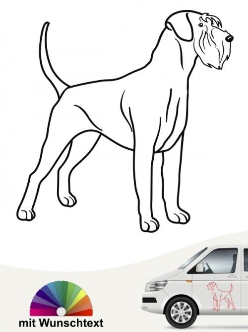 Riesenschnauzer Hundeaufkleber mit Wunschtext von anfalas.de