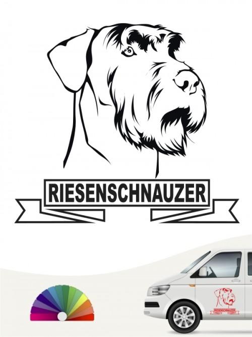 Hunde-Autoaufkleber Riesenschnauzer 15 von Anfalas.de