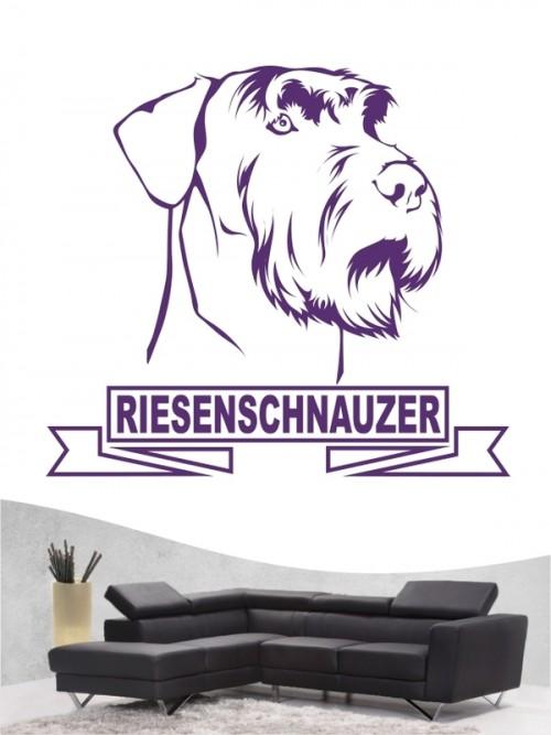 Hunde-Wandtattoo Riesenschnauzer 15 von Anfalas.de