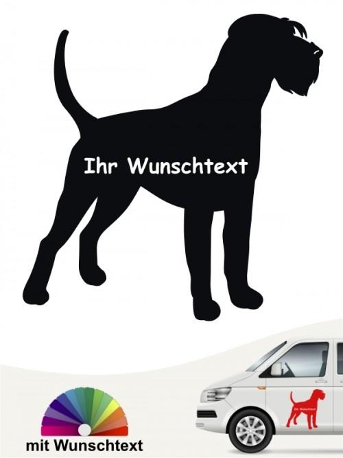 Riesenschnauzer Silhouette Autosticker mit Wunschname von anfalas.de