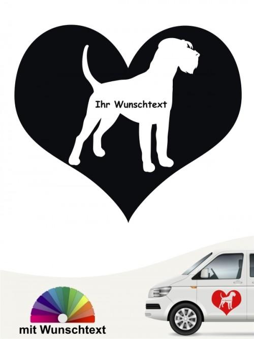 Riesenschnauzer Herzmotiv mit Wunschname von anfalas.de