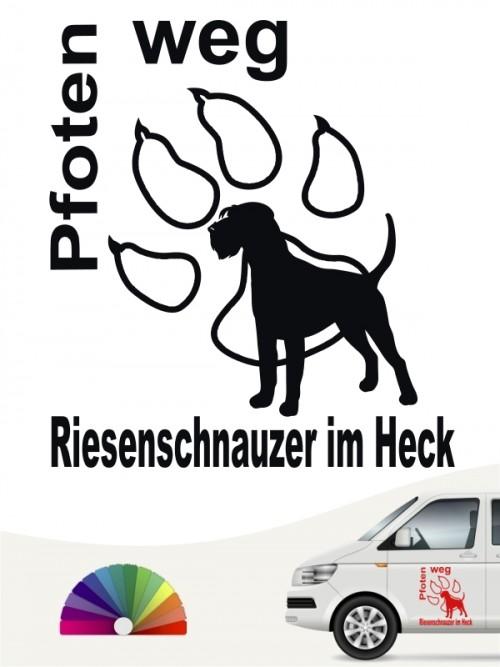 Riesenschnauzer Pfoten weg Aufkleber von anfalas.de
