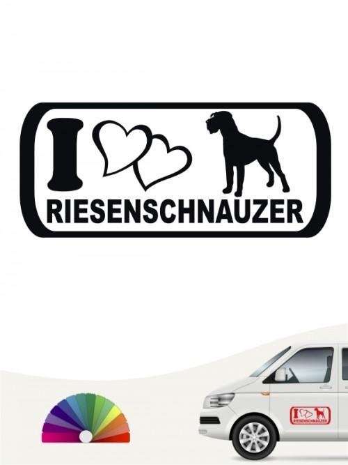 I Love Riesenschnauzer heckscheibenaufkleber von anfalas.de