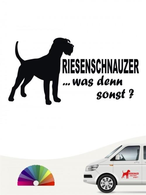 Riesenschnauzer was denn sonst Heckscheibenaufkleber von anfalas.de