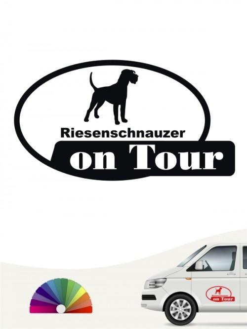 Riesenschnauzer on Tour Autosticker von anfalas.de