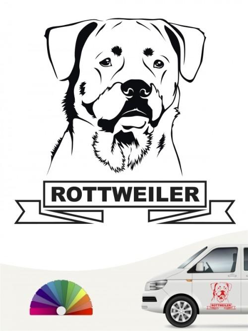 Hunde-Autoaufkleber Rottweiler 15 von Anfalas.de