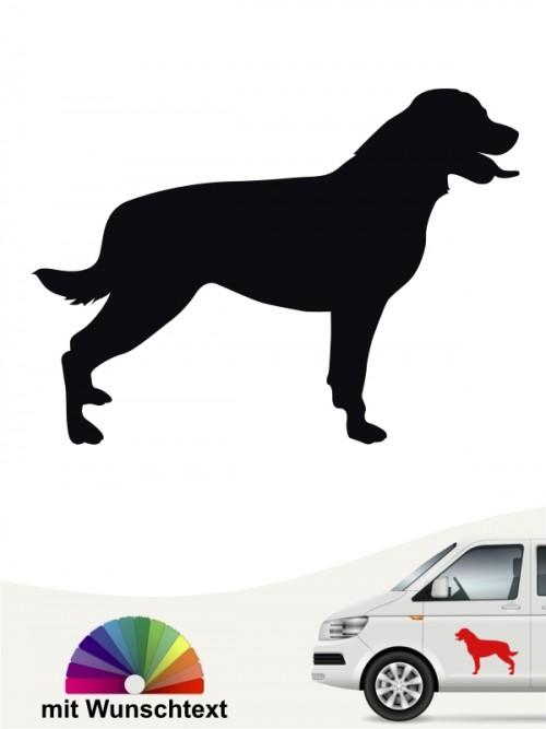 Rottweiler Silhouettenaufkleber mit Wunschtext von anfalas.de