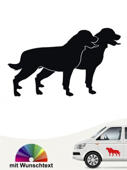 Rottweiler doppel Silhouette mit Wunschtext von anfalas.de