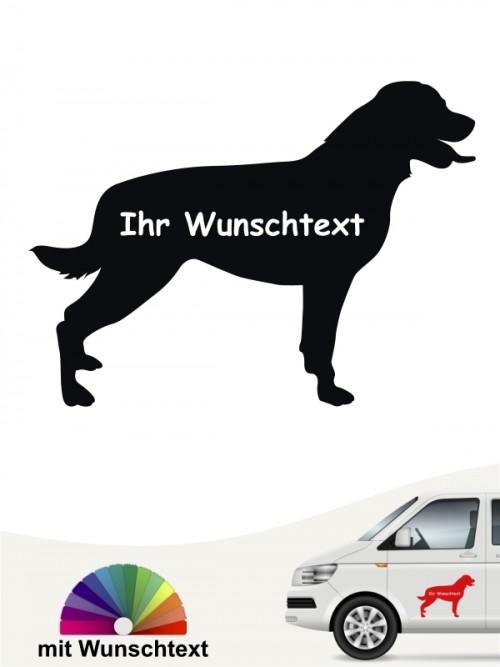 Rottweiler Heckscheibenaufkleber mit Wunschname von anfalas.de