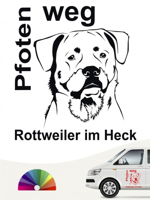 Rottweiler Pfoten weg Aufkleber von anfalas.de