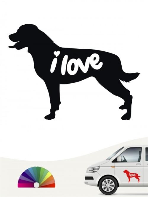 Rottweiler  i love Aufkleber von anfalas.de