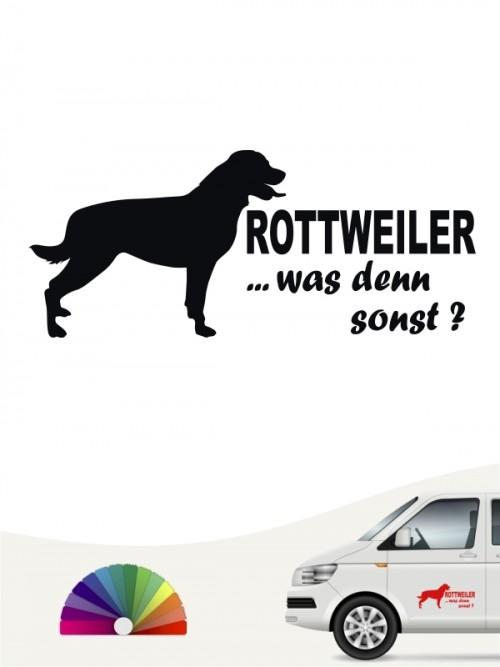 Rottweiler was denn sonst Heckscheibenaufkleber von anfalas.de