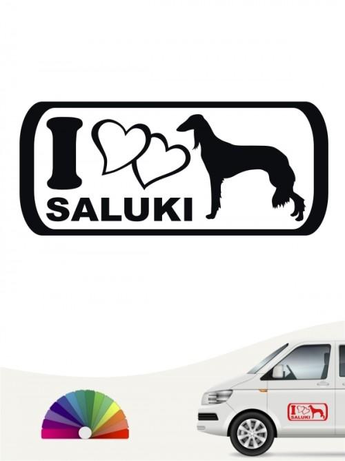 Saluki 5 mit Wunschtext Autoaufkleber von Anfalas.de