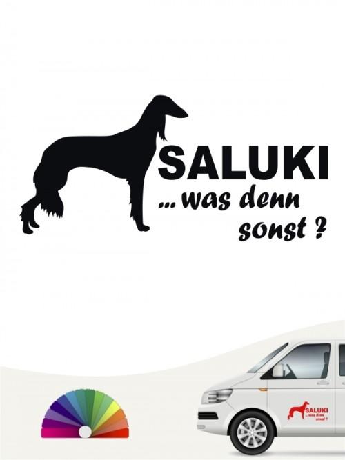 Saluki 6 mit Wunschtext Autoaufkleber von Anfalas.de