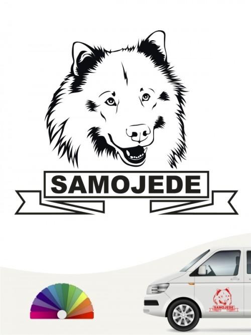Hunde-Autoaufkleber Samojede 15a von Anfalas.de