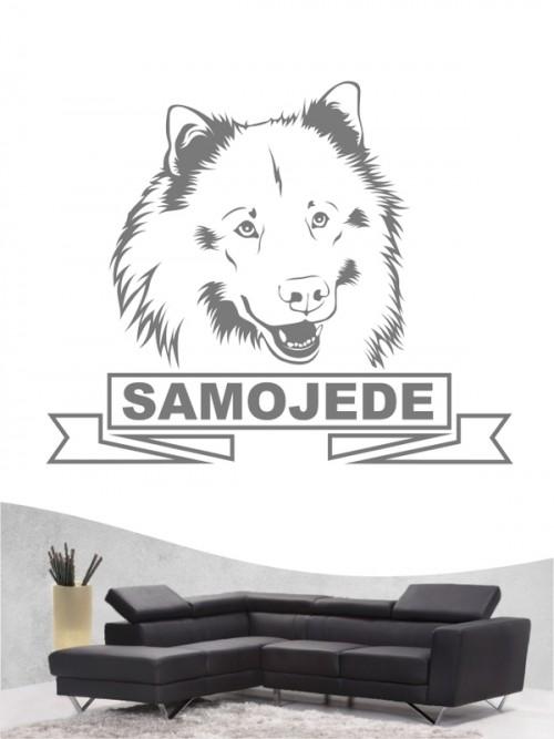 Hunde-Wandtattoo Samojede 15a von Anfalas.de