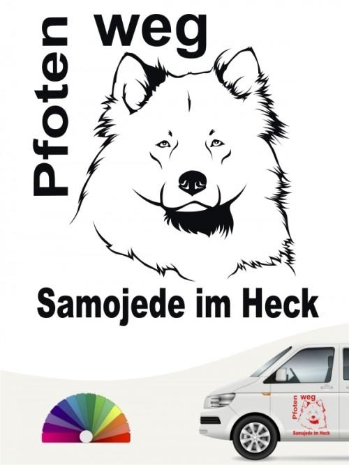 Samojede Pfoten weg Aufkleber von anfalas.de