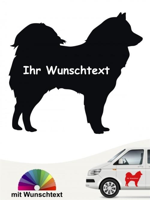Samojede Silhouette Aufkleber mit Wunschname von anfalas.de