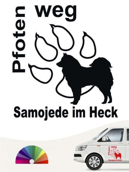 Pfoten weg Aufkleber Samojede von anfalas.de