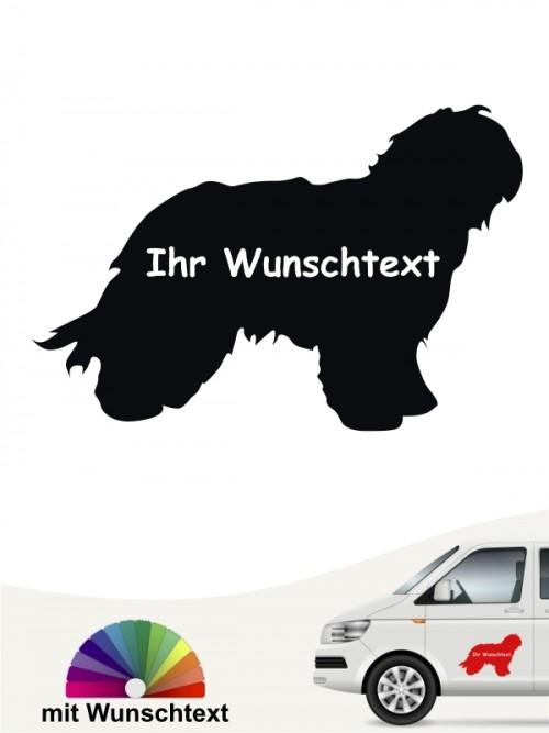 Schapendoes Silhouette Autosticker mit Wunschname anfalas.de