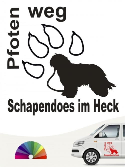 Schapendoes Pfoten weg Aufkleber anfalas.de
