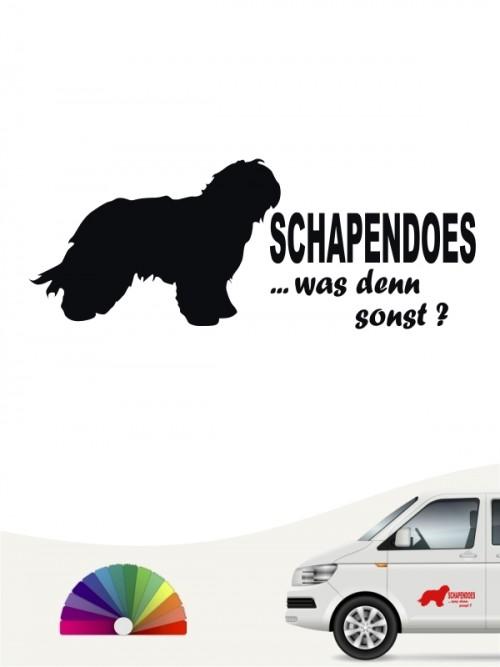 Schapendoes was denn sonst Heckscheibenaufkleber anfalas.de