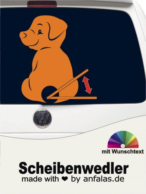 Scheibenwedler Heckscheibenaufkleber Hund