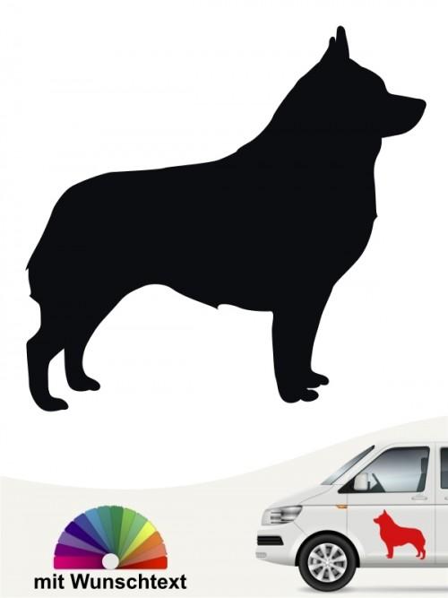 Schipperke Hundeaufkleber mit Wunschtext anfalas.de