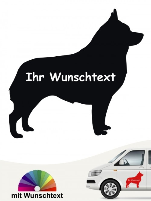 Schipperke Silhouette Autosticker mit Wunschname anfalas.de