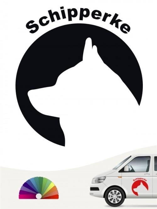 Schipperke Hundeaufkleber von anfalas.de