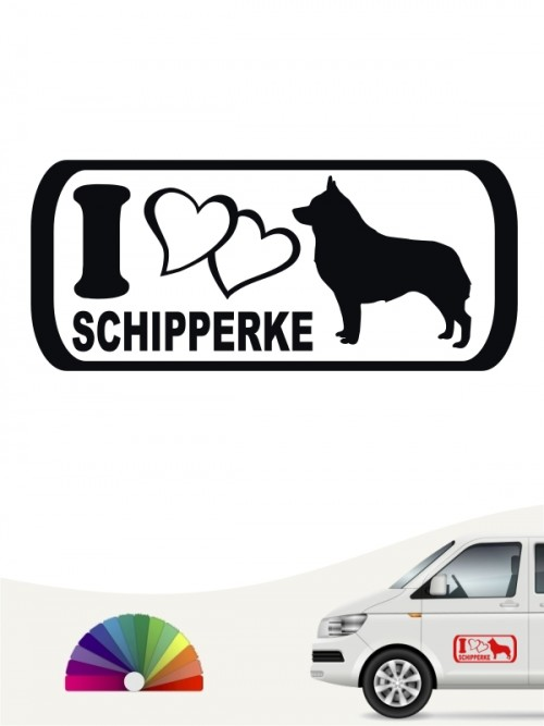 Schipperke I Love Hundeaufkleber anfalas.de
