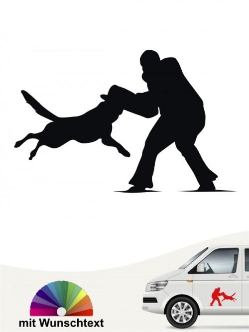 Diensthund IPO Aufkleber anfalas.de