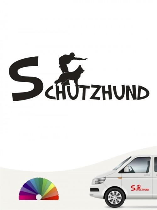 Diensthund IPO Sticker mit Wunschtext von anfalas.de